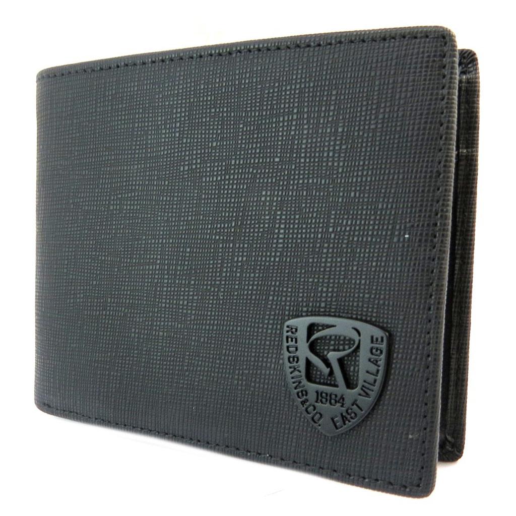 Portefeuille italien \'Redskins\' noir - 11x9x15 cm - [P3406]