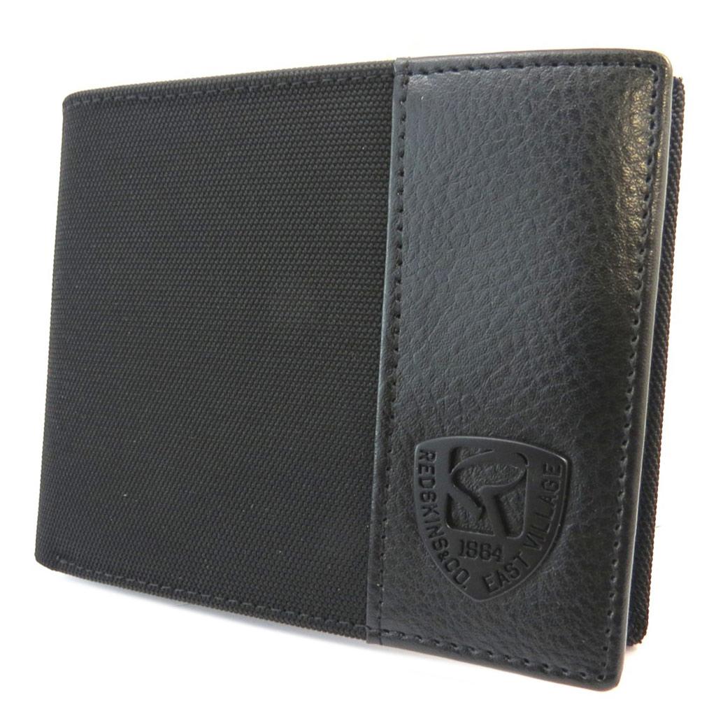 Portefeuille italien \'Redskins\' noir - 11x9x15 cm - [P3407]