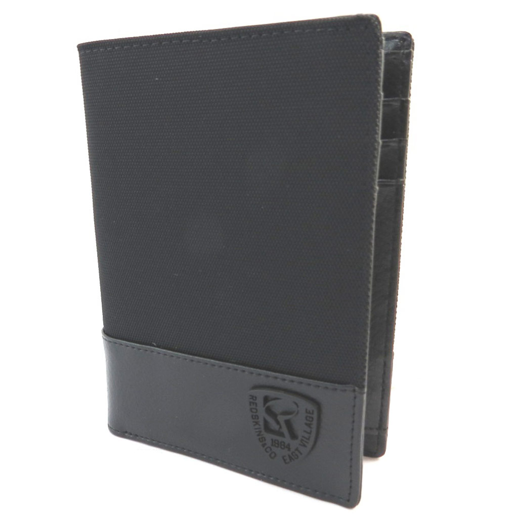 Portefeuille européen \'Redskins\' noir - 13x95x15 cm - [P3408]