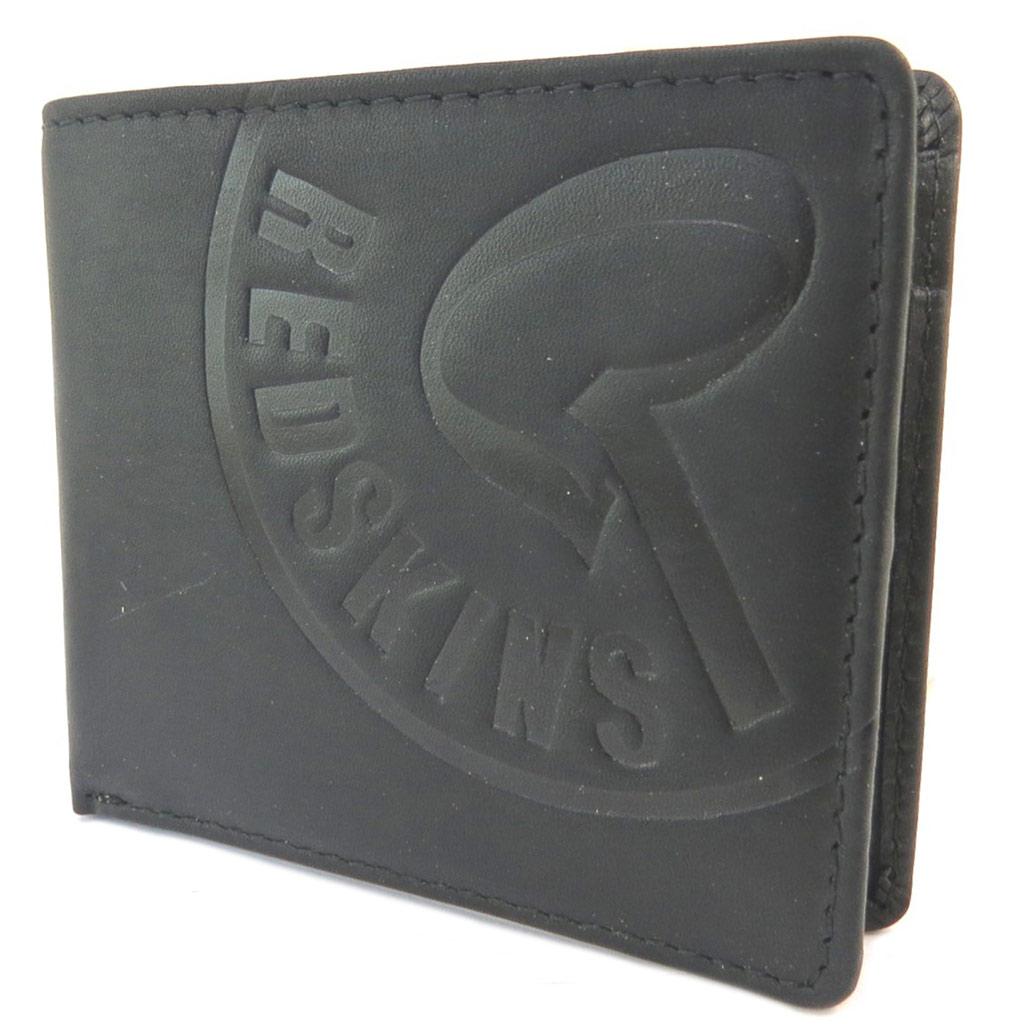 Portefeuille italien cuir \'Redskins\' noir vintage - 10x9x1 cm - [P3411]