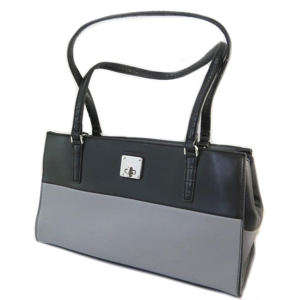 Sac créateur \'Fiorelli\' noir gris - 32x19x125 cm - [P3477]