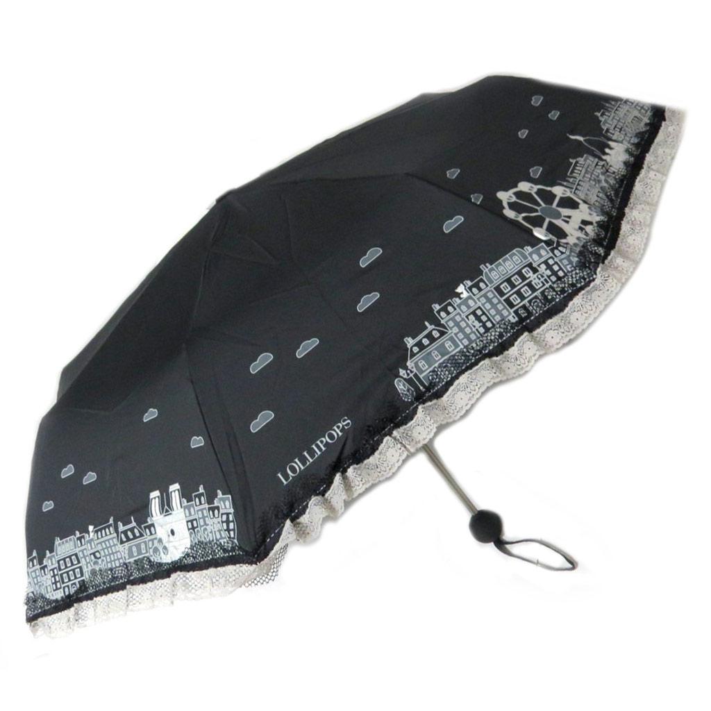 Parapluie mini \'Lollipops\' noir - 26 cm - [P3510]