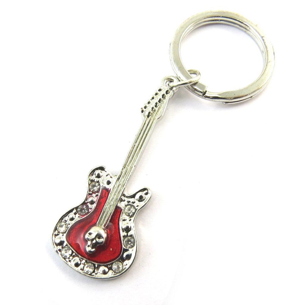 Porte-clés \'Guitare\' rouge - [N4120]