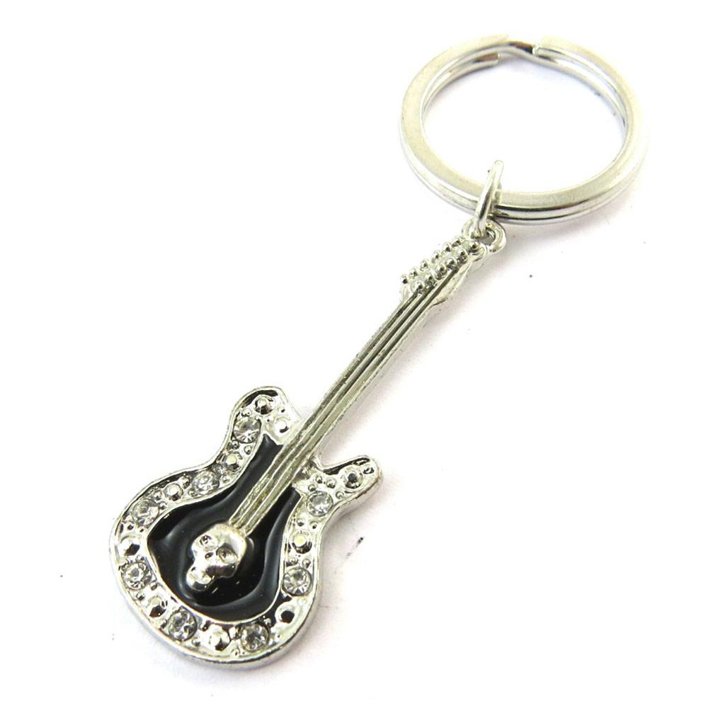 Porte-clés \'Guitare\' noir - [N4125]