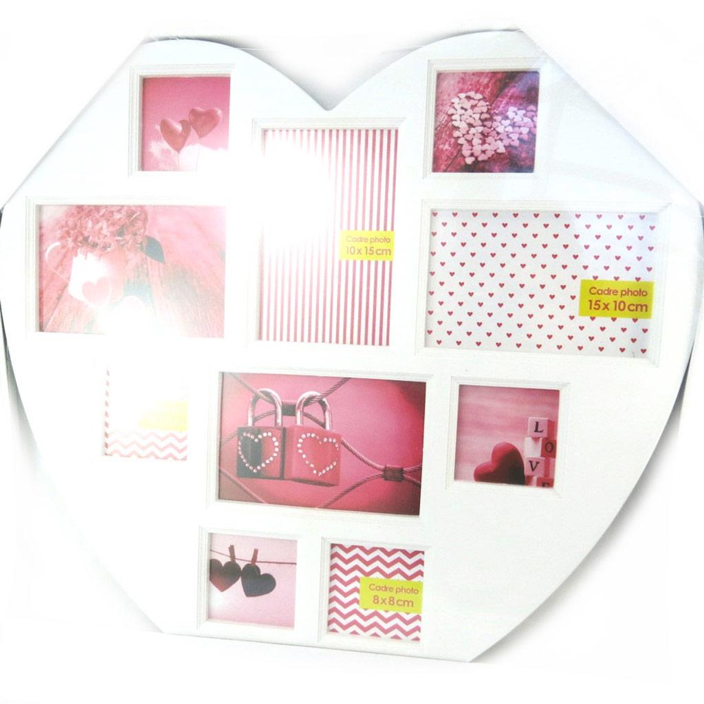 Pêle-Mêle \'Love\' blanc (10 photos) - 46x45 cm - [N4187]