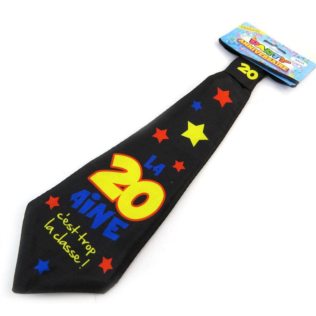 Cravate anniversaire \'20 ans\'  - [N4219]