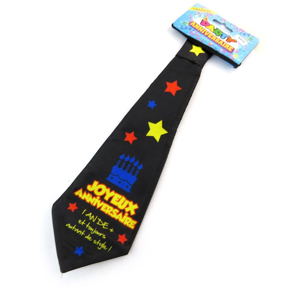 Cravate anniversaire \'Joyeux Anniversaire\'  - [N4225]