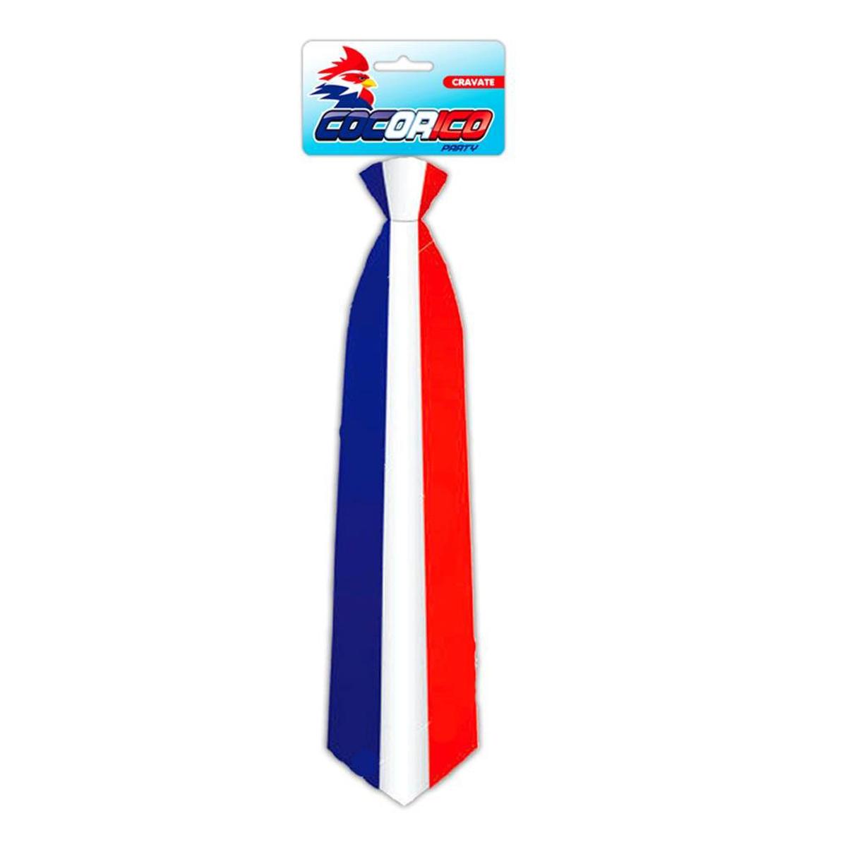 Cravate de star \'France Cocorico\' tricolore - [N4227]