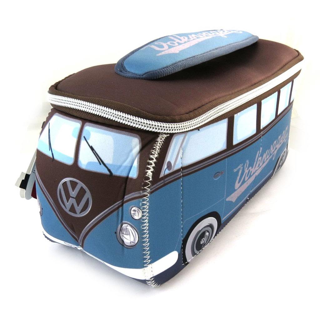 Trousse de toilette \'Volkswagen\' bleu marron - 29x13x10 cm - [N4533]