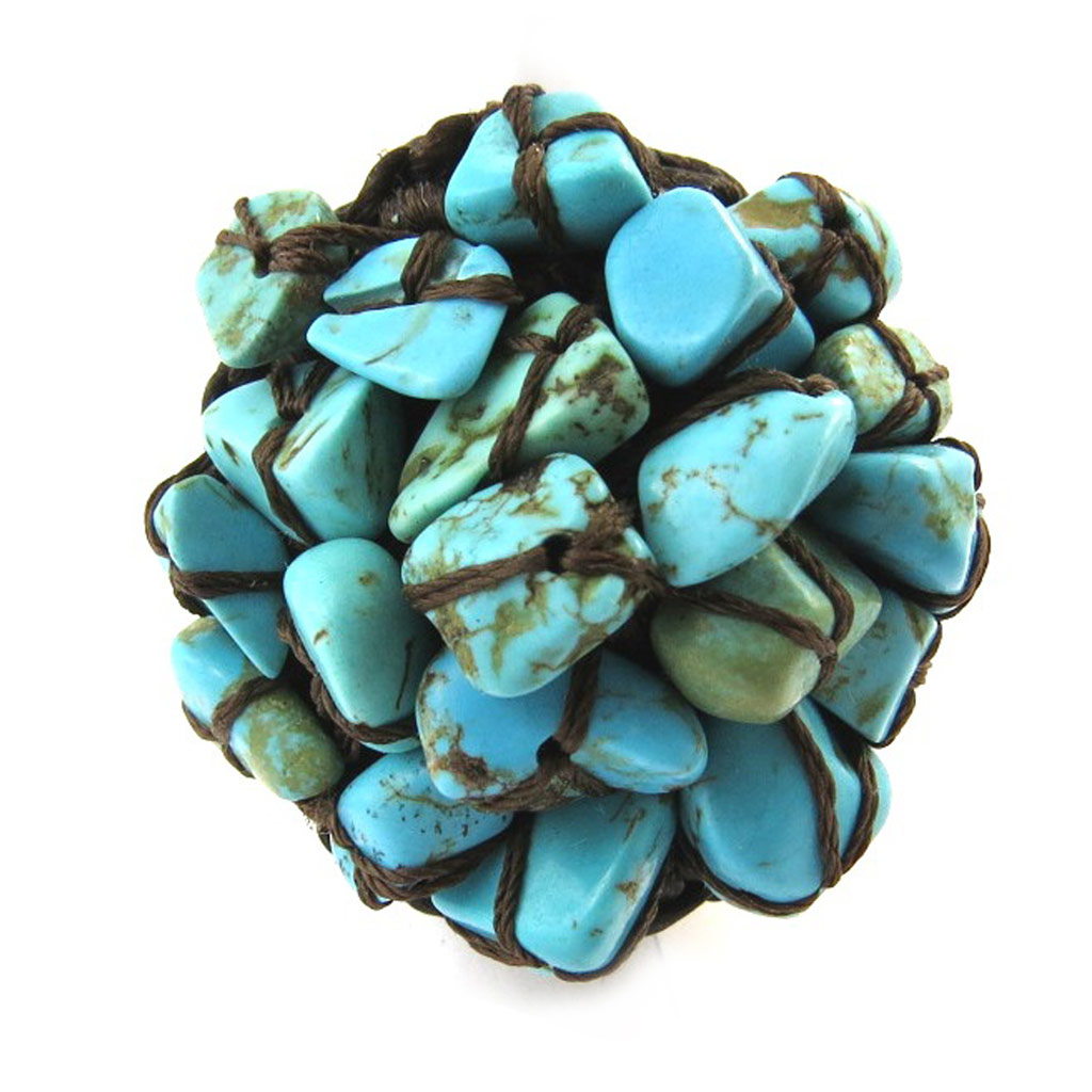Bague \'Mineralia\' turquoise  - [N4637]