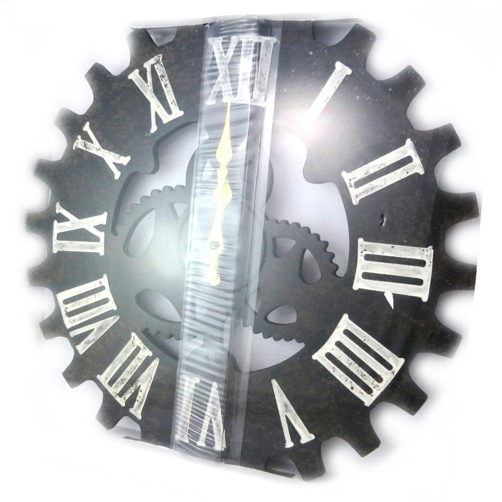 Horloge métal \'Les Temps Modernes\' noir (40 cm) - [N4832]