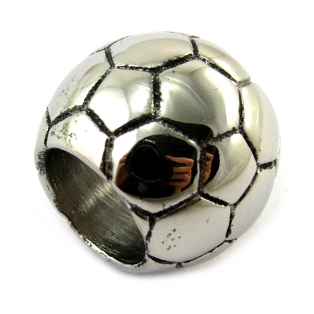 Pendentif acier \'Football\' chrome - [N5091]