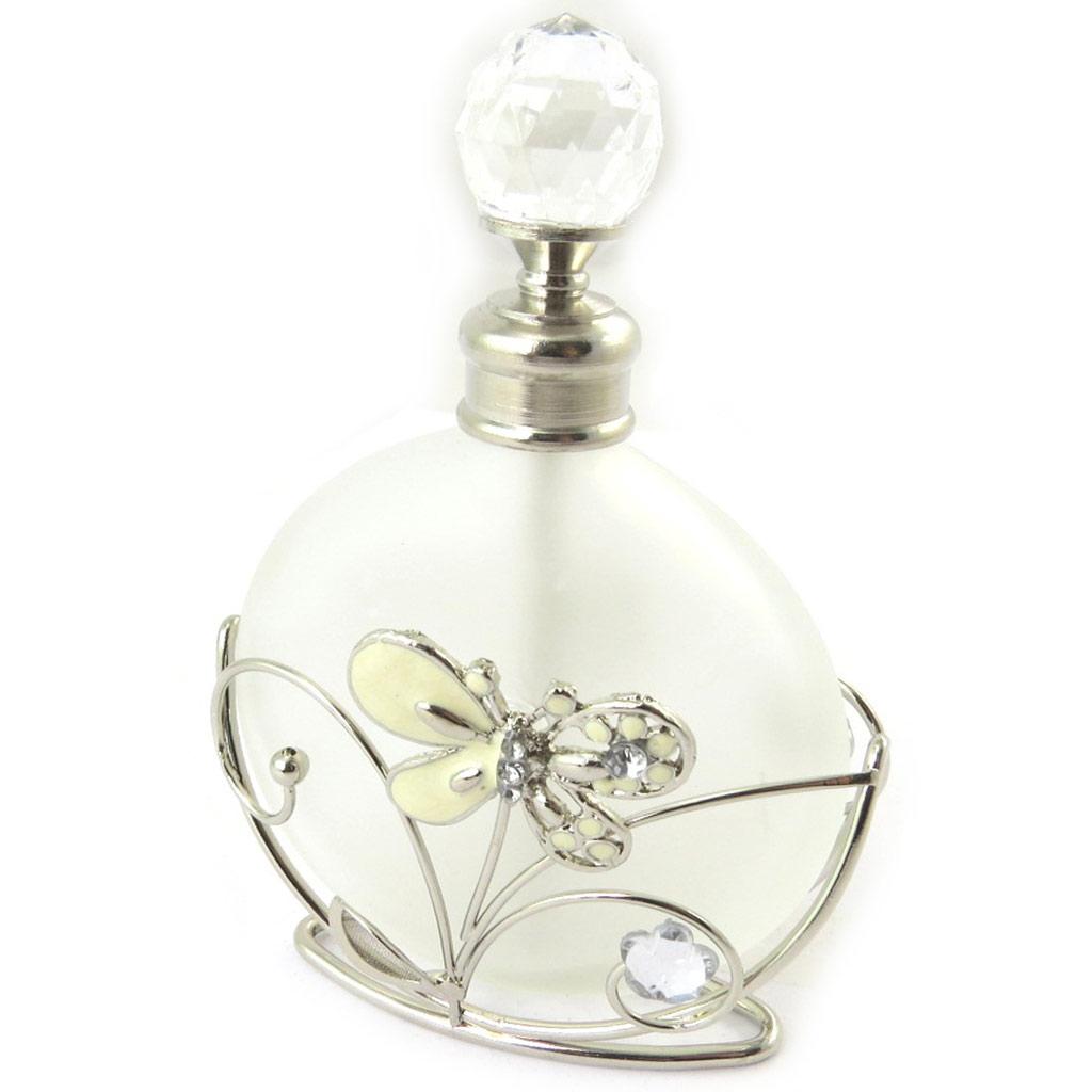 Flacon à Parfum \'Papillon de Soie\' ivoire - [N5152]