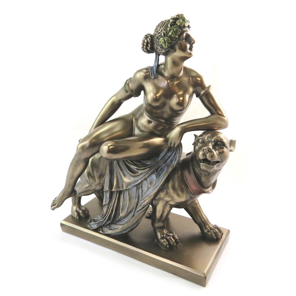 Figurine \'Ariane sur la Panthère\' bronze - [N5171]