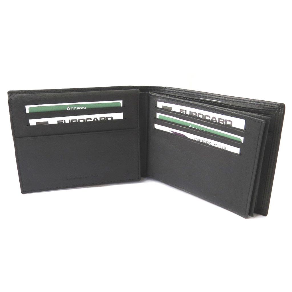 Portefeuille italien cuir  \'Les Trésors de Lily\' noir - 13x95x3 cm - [N5183]