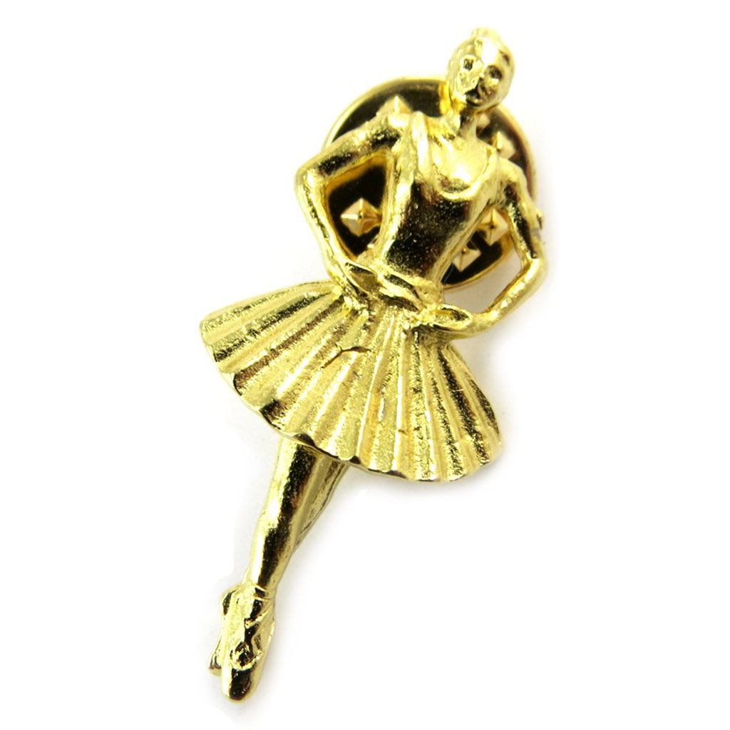 Broche pin\'s \'Degas\' doré - [N5266]