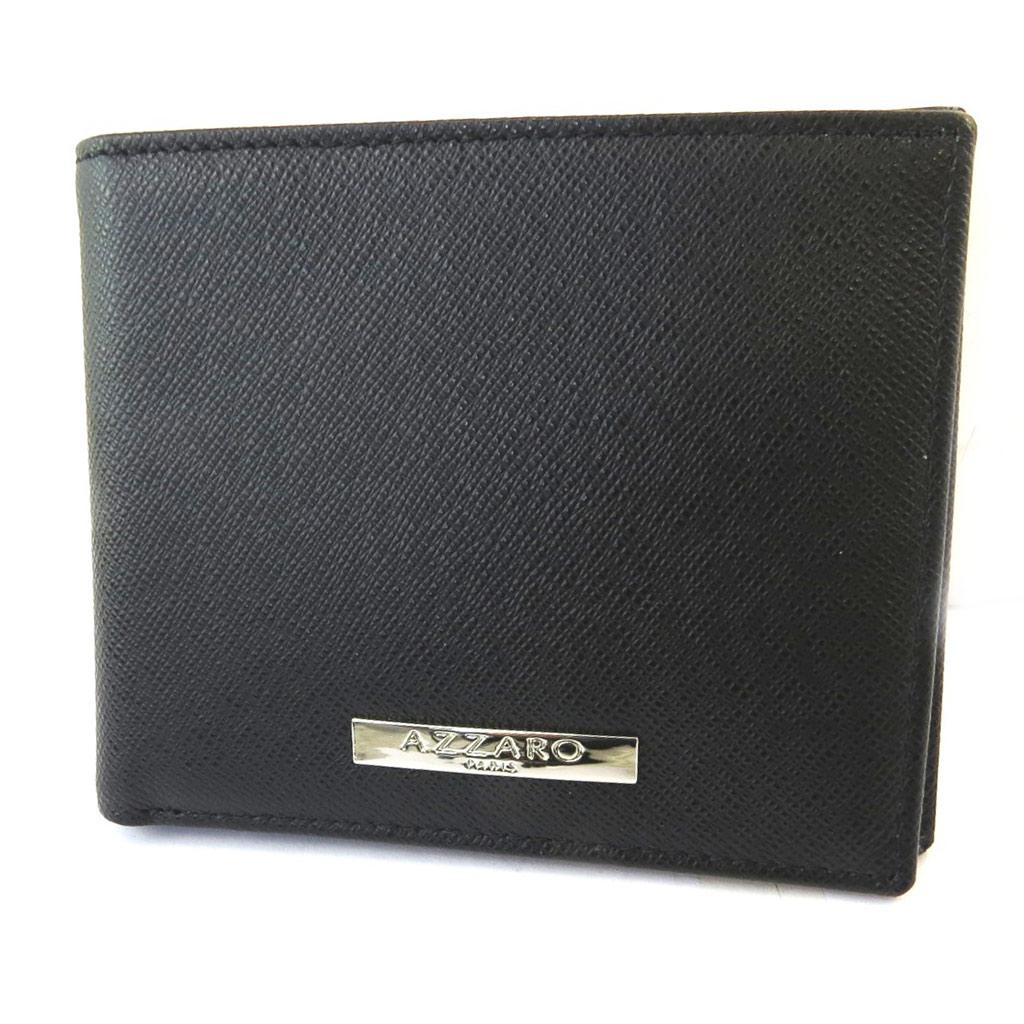 Portefeuille italien cuir \'Azzaro\' noir - 115x95x1 cm - [N5475]