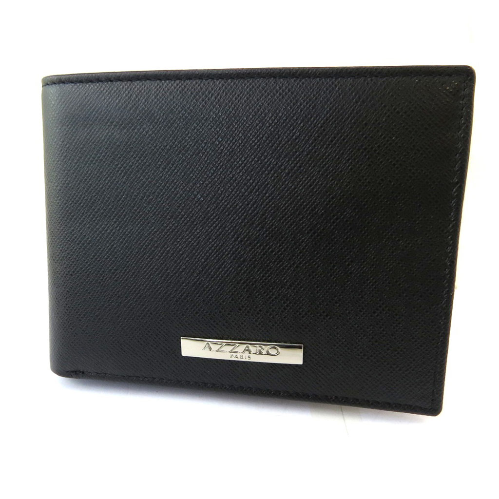 Portefeuille italien cuir \'Azzaro\' noir - 13x98x1 cm - [N5476]