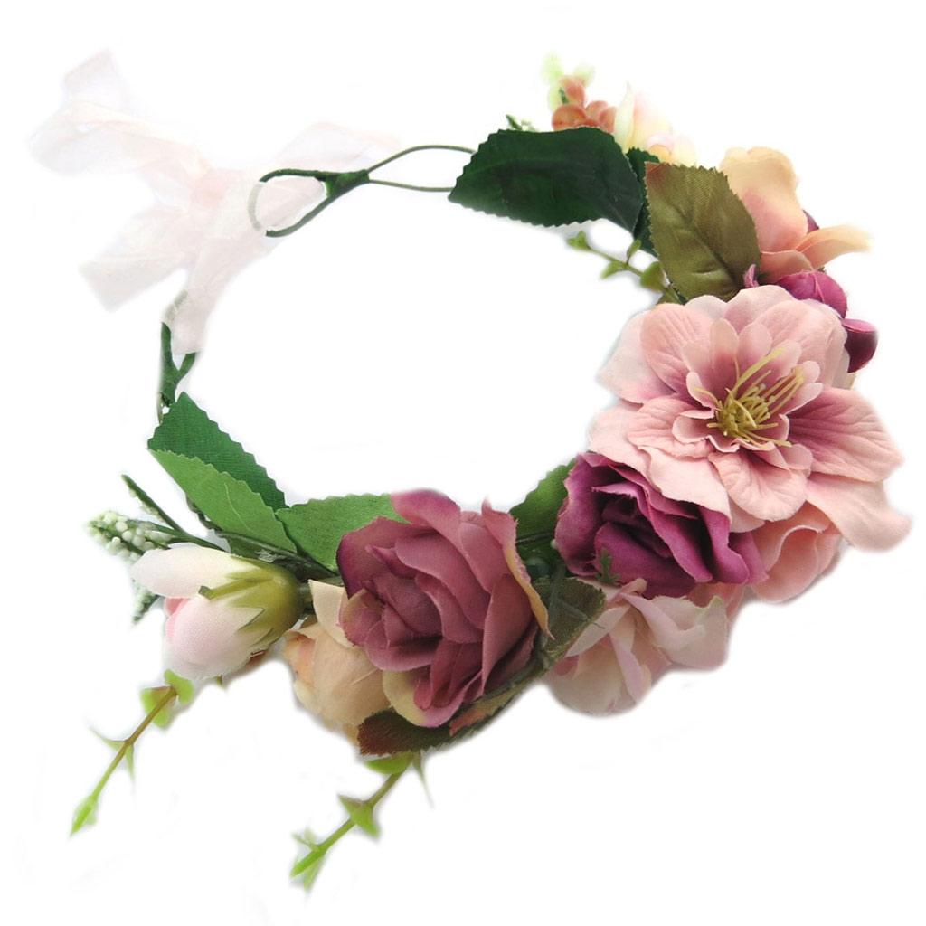 Couronne créateur \'champêtre \' rose - largeur 85 cm - [P4793]