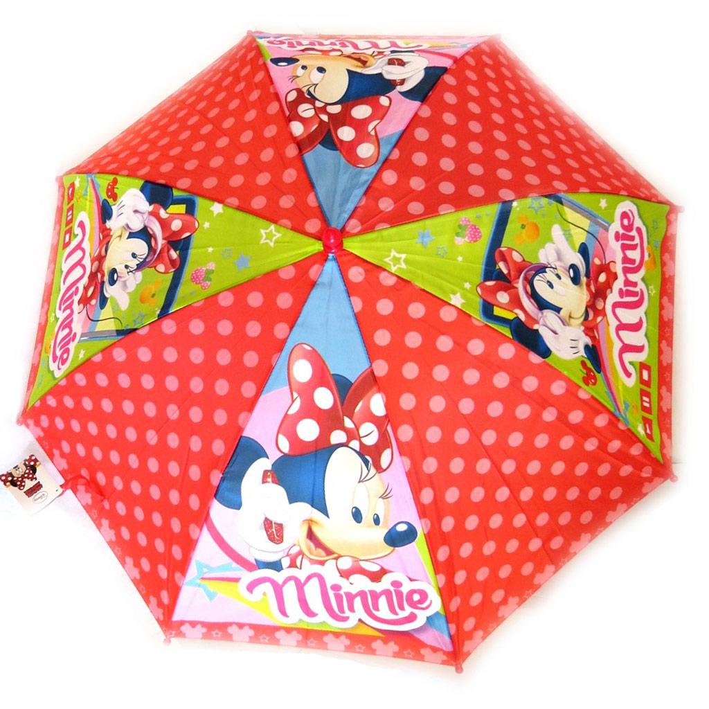 Parapluie Enfant \'Minnie\' rouge (46 cm - diamètre 84 cm) - [N5567]