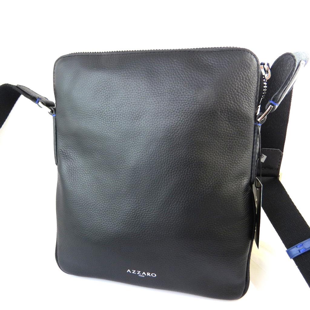 Porté-croisé cuir \'Azzaro\' noir - 275x245x2 cm - [N5642]