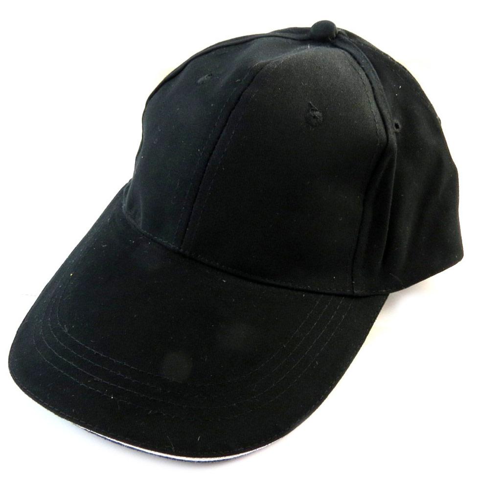 Casquette coton \'Casual\' noir - [N5897]
