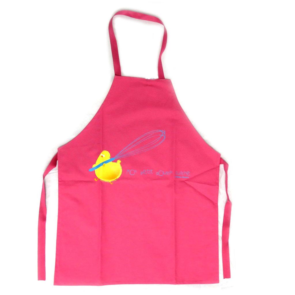 Tablier enfant \'Mon poussin cuisine\' rose fuschia - [N5900]