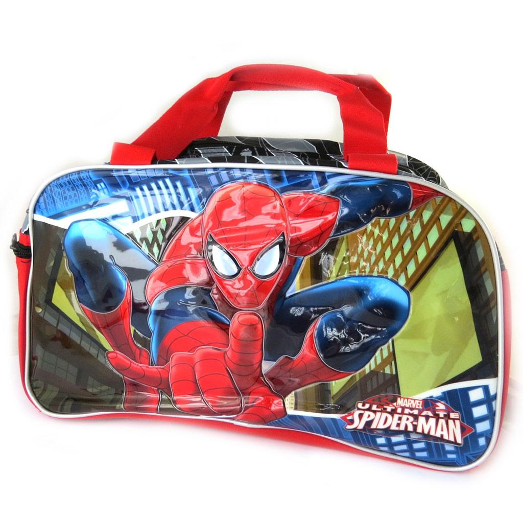 Sac de voyage enfant \'Spiderman\' noir multicolore - 45x27x19 cm - [N6035]