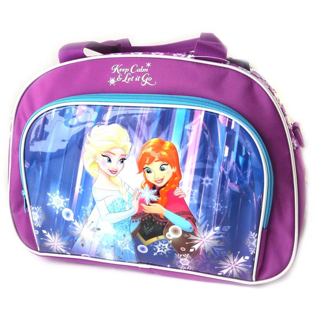 Sac de voyage enfant \'Frozen - Reine des Neiges\' bleu violet - 39x29x16 cm - [N6047]