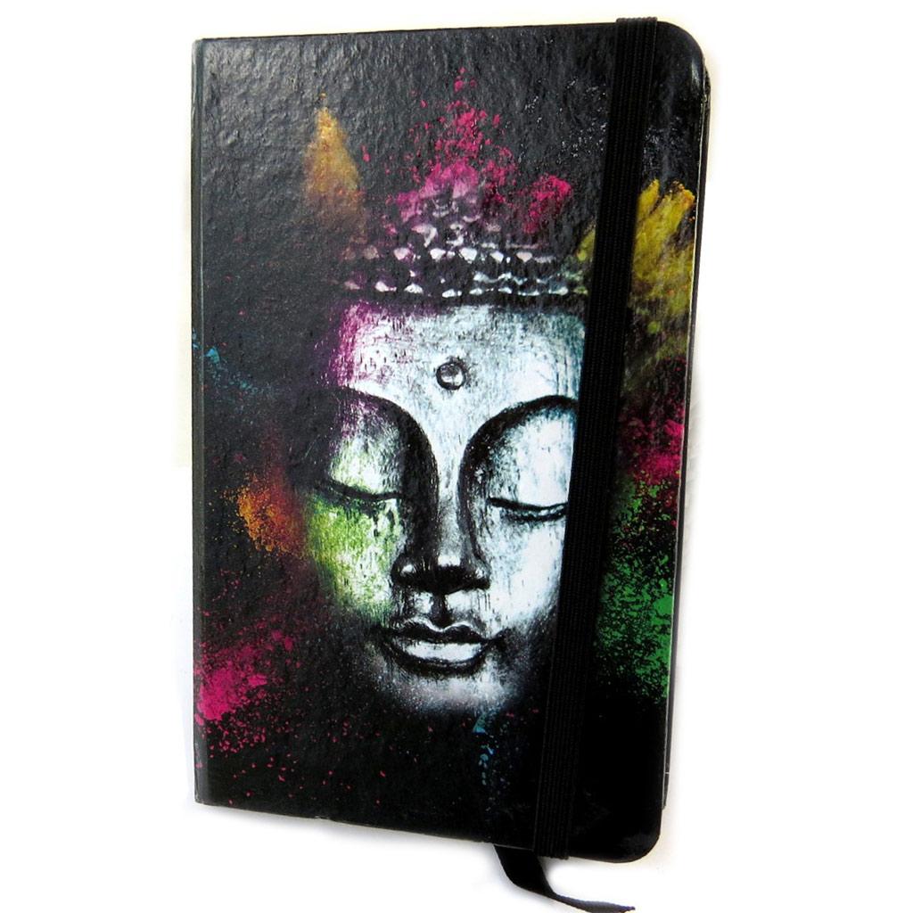 Carnet Intime \'Bouddha\' noir multicolore - [N6169]