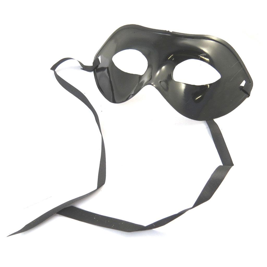 Masque créateur \'Bal Masqué\' noir - [N6186]