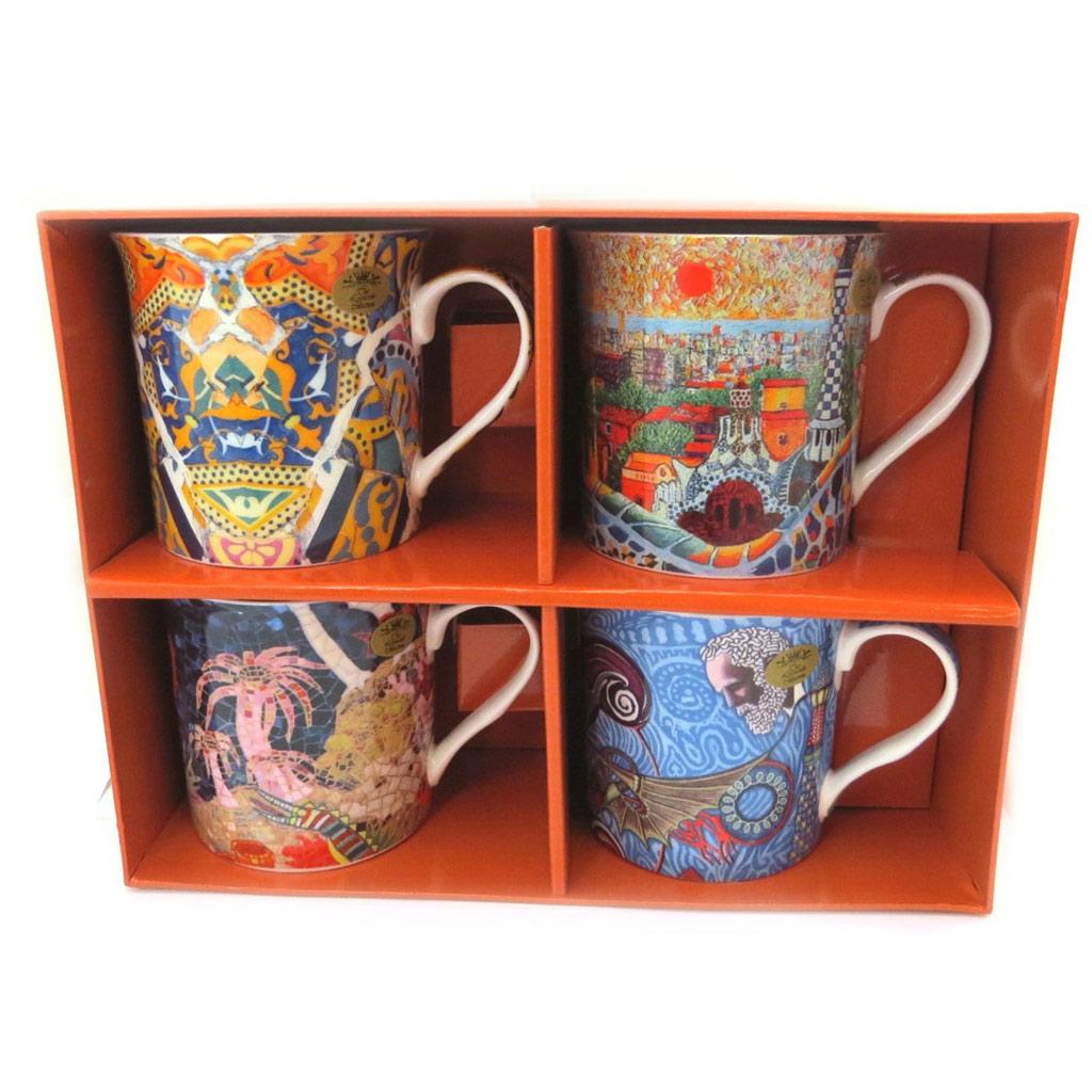 Coffret cadeau \'Antoni Gaudi\' (4 mugs) - [P5209]