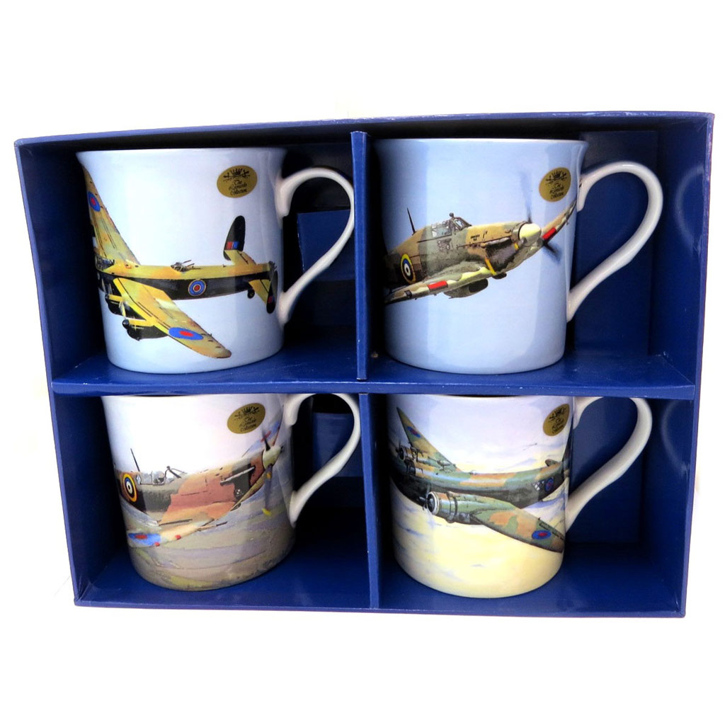 Coffret cadeau \'Avions de Collection\' (4 mugs) - [P5218]
