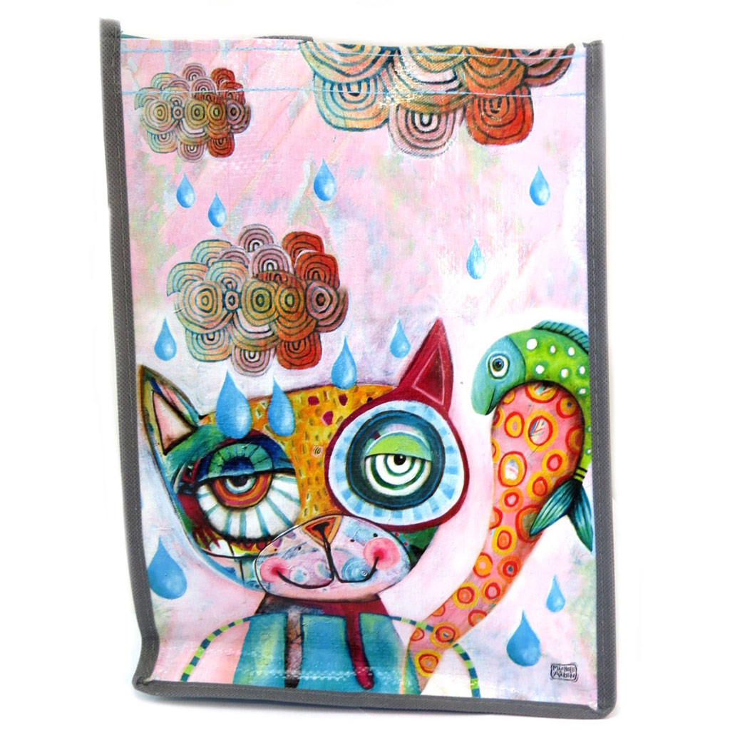 Sac Shopping \'Allen Designs\' multicolore (chat) - 35x25x19 cm - [P5304]