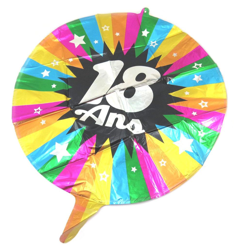 Ballon métallique \'18 ans\' tutti frutti - 45 cm - [P5351]