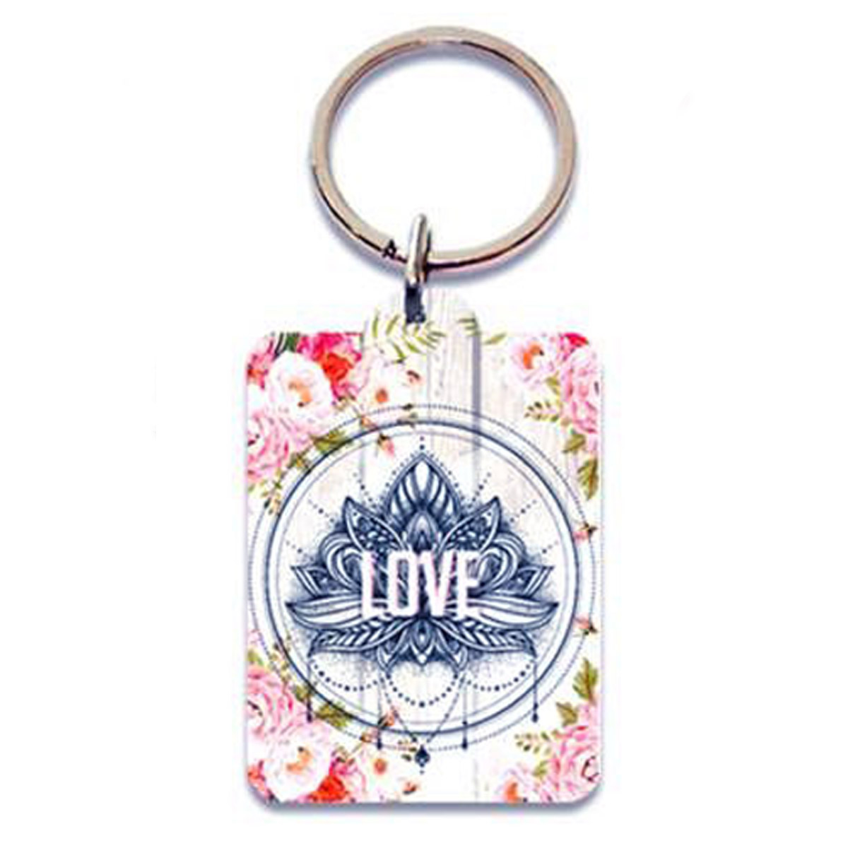 Porte-Clés \'Boho\' rose beige (love) - 65x45 cm - [P5402]