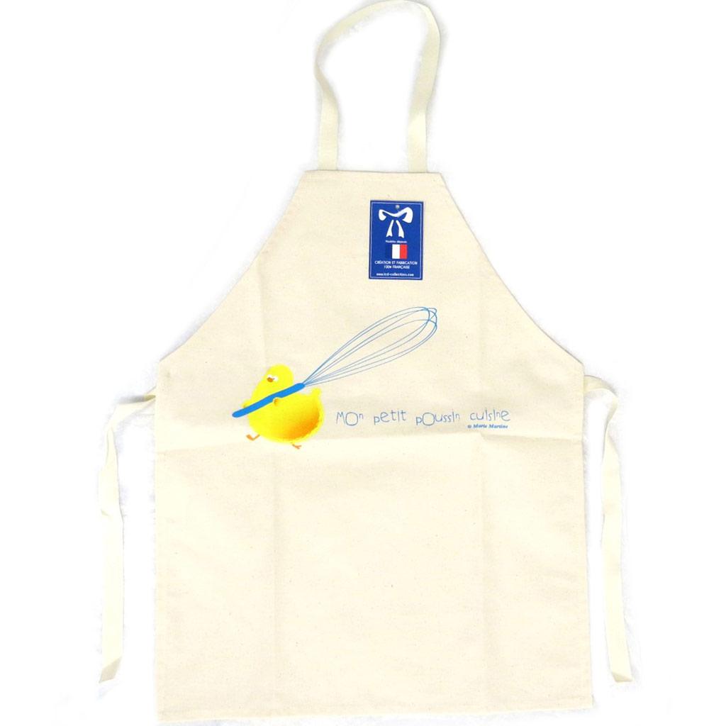 Tablier enfant \'Mon poussin cuisine\' beige - [N6364]