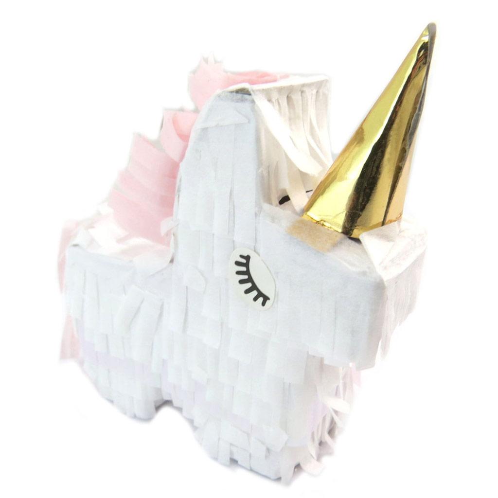 Mini pinata \'Licorne My Unicorn\' blanc rose doré - 95x85 mm - [P5422]
