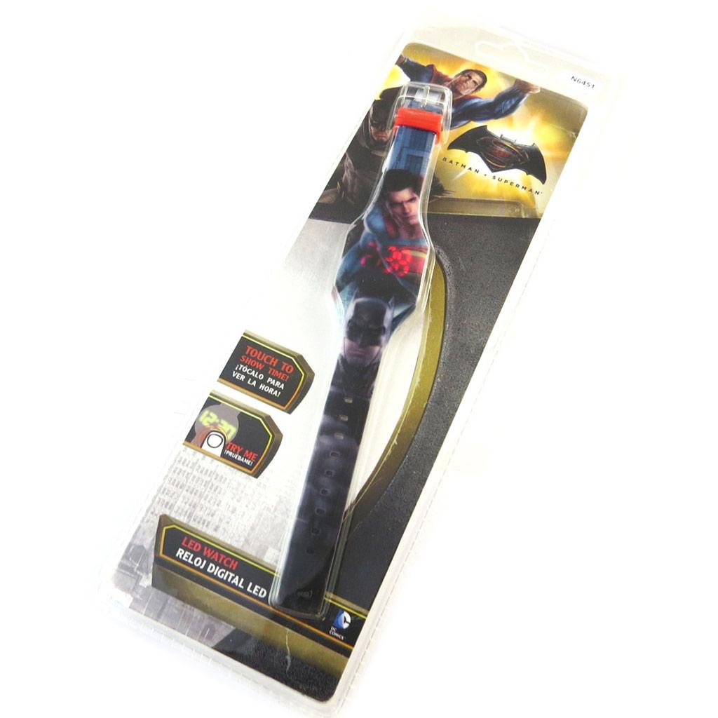 Montre LED digitale \'Batman vs Superman\' bleu multicolore - [N6451]