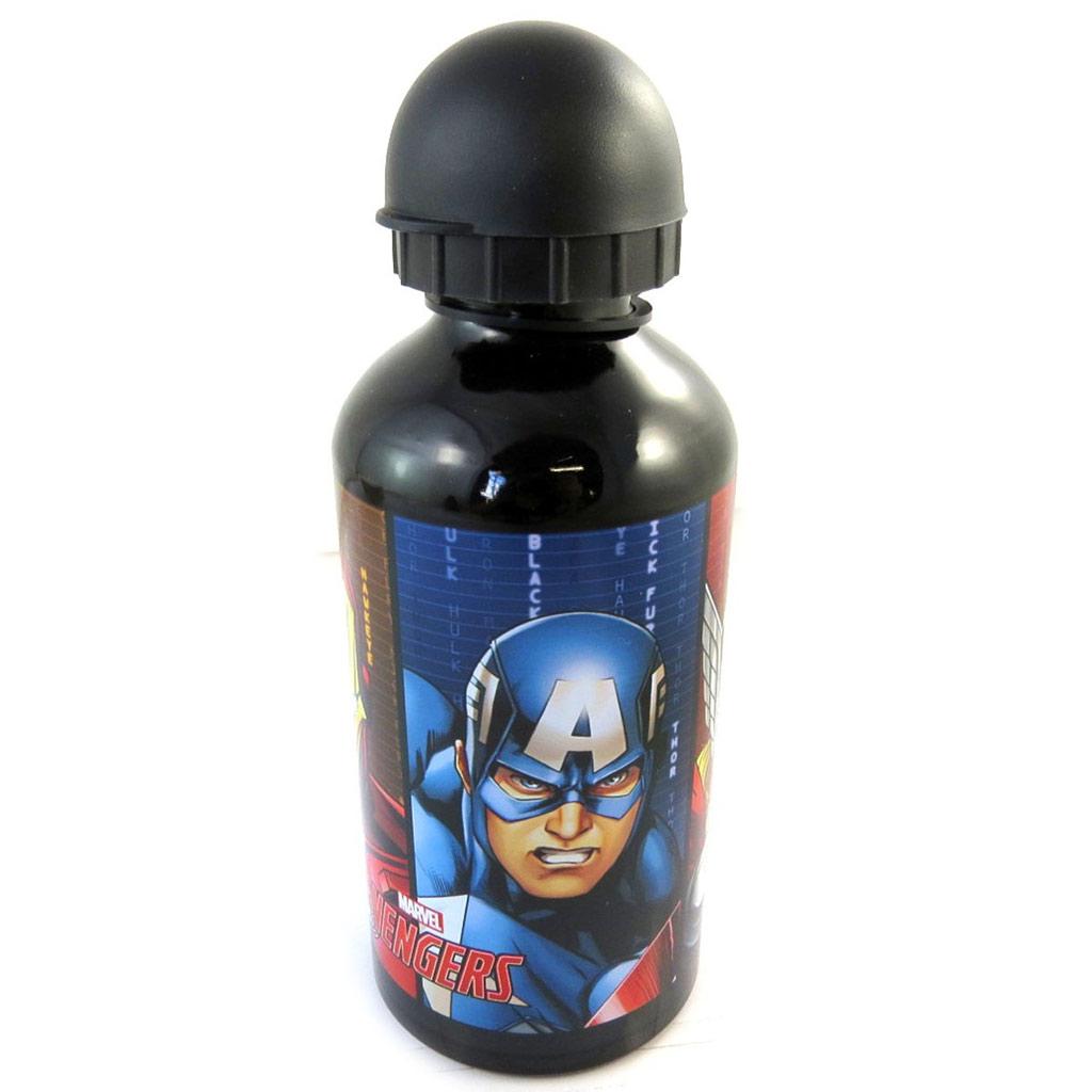 Gourde Aluminium \'Avengers\' noir multicolore - [N6634]