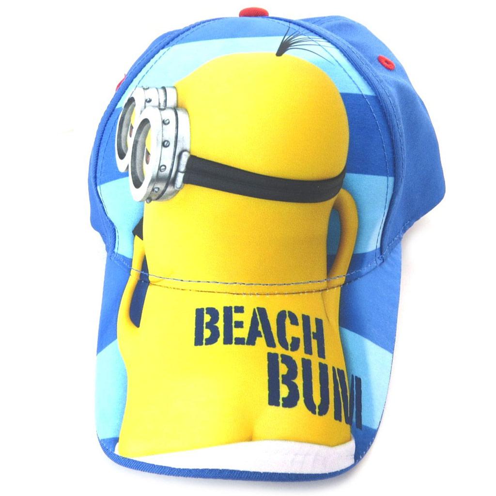 Casquette Enfant \'Minions\' jaune bleu marine (beach bum) - [N6637]