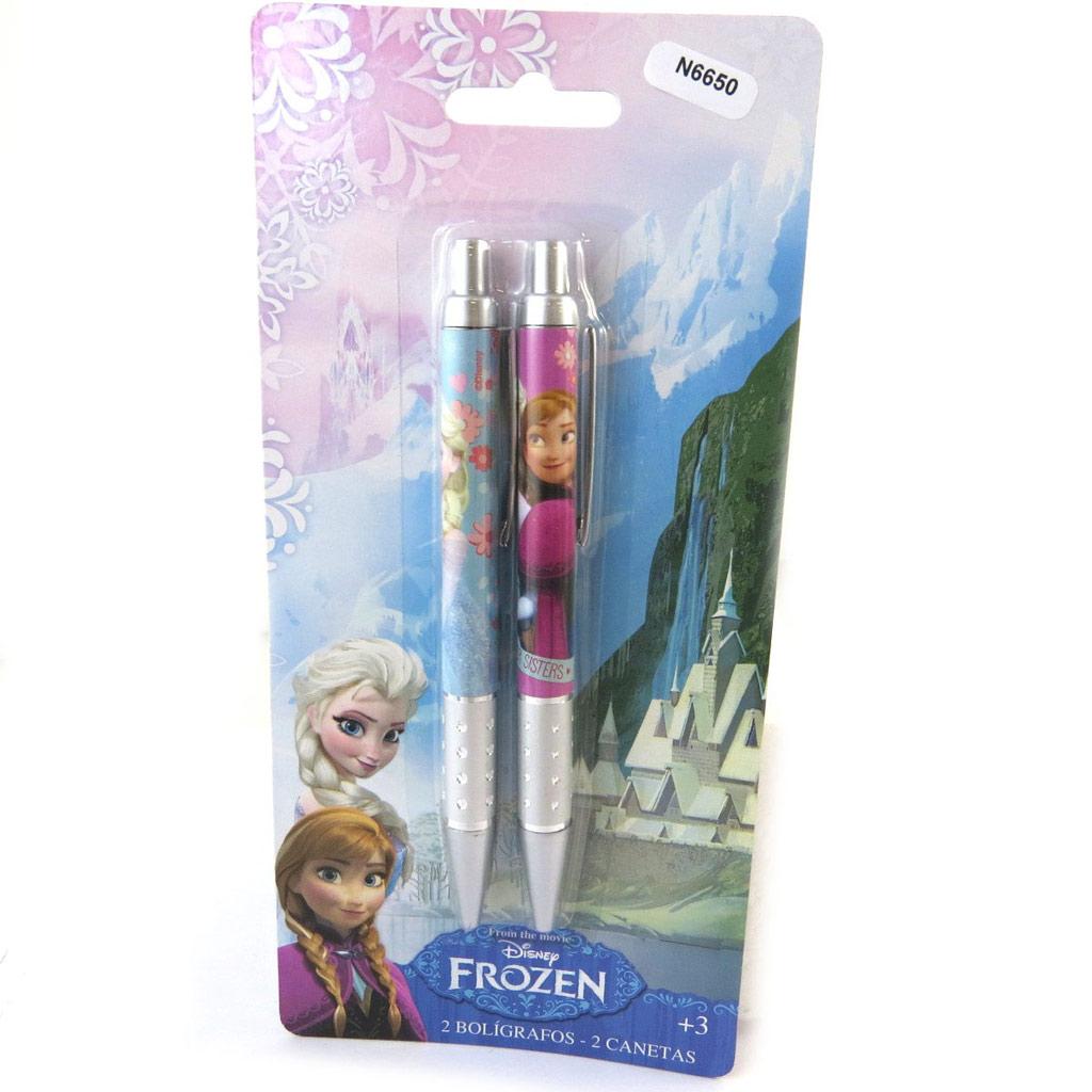 2 stylos \'Frozen - Reine des Neiges\' bleu rose - [N6650]