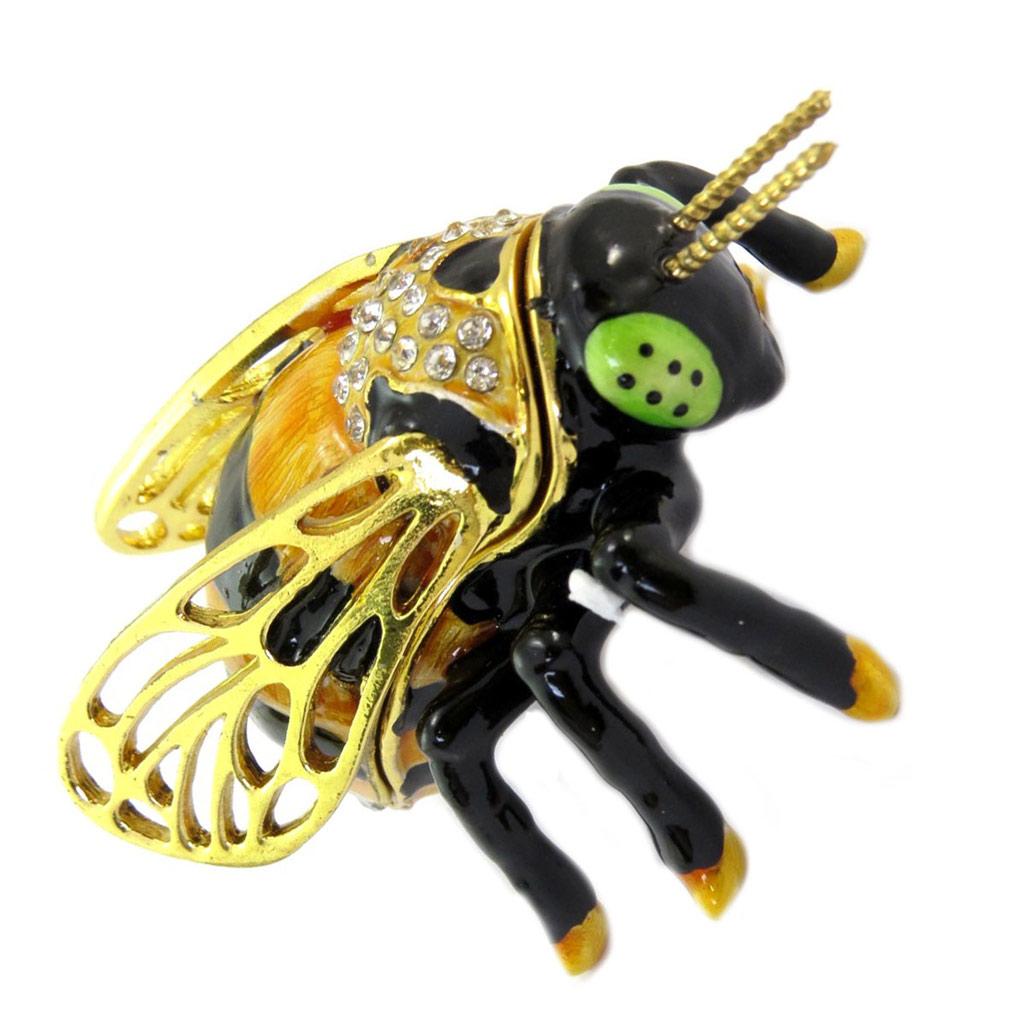 Coffret à Bijoux \'Abeille\' noir doré - 7x45x35 cm - [P5732]
