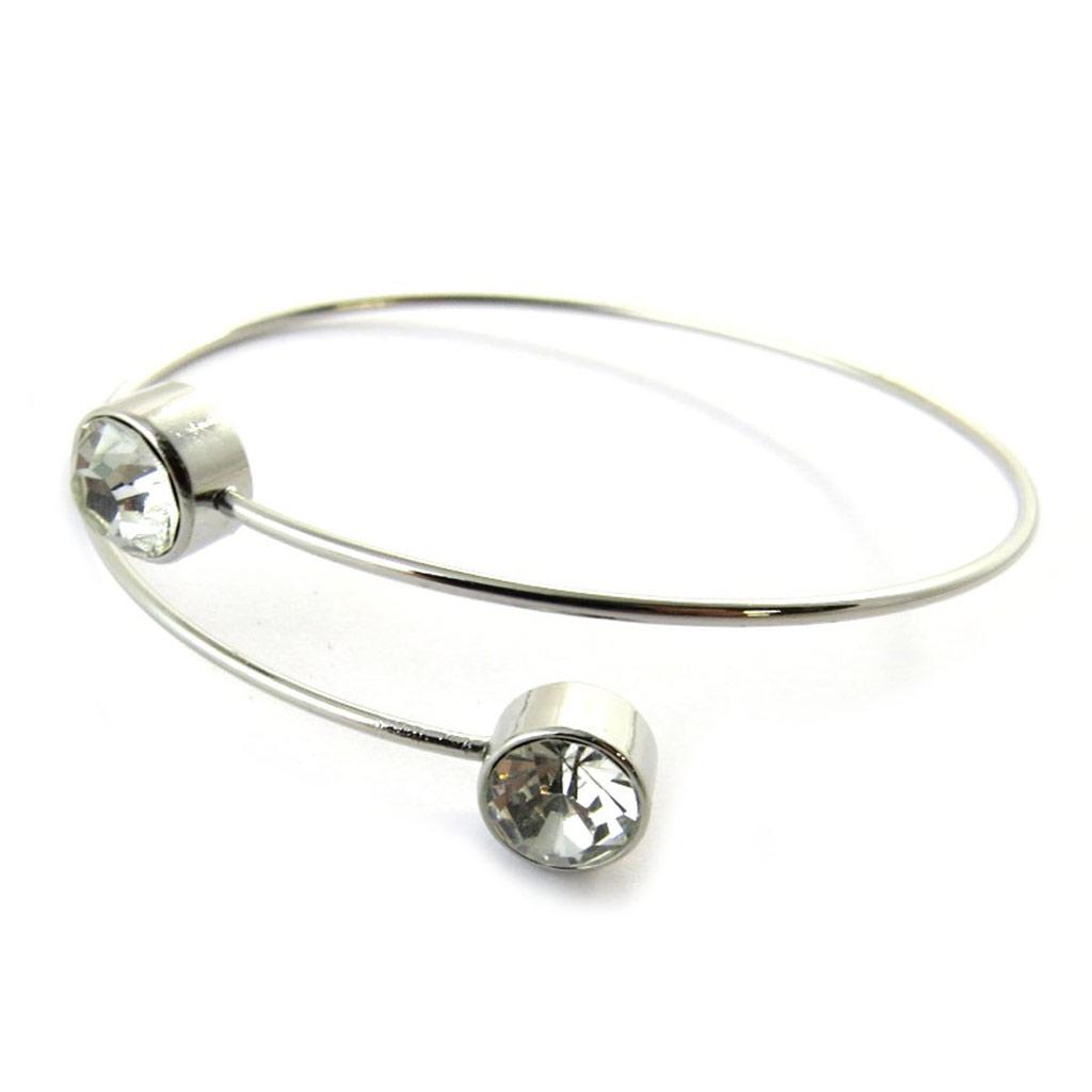 Bracelet \'Sissi\' blanc argenté - [N7030]