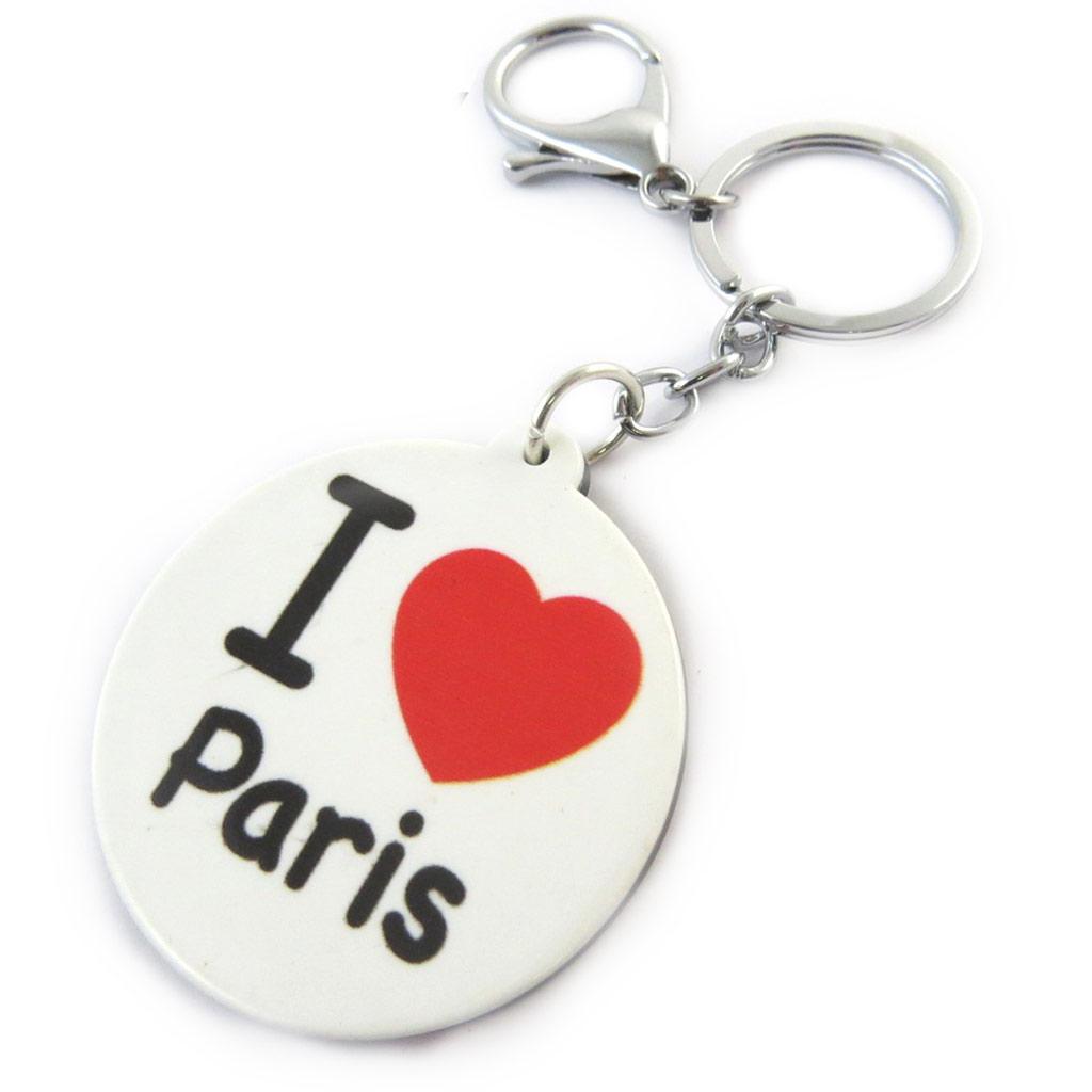 Porte-Clés \'I Love Paris\' blanc rouge - [N7180]