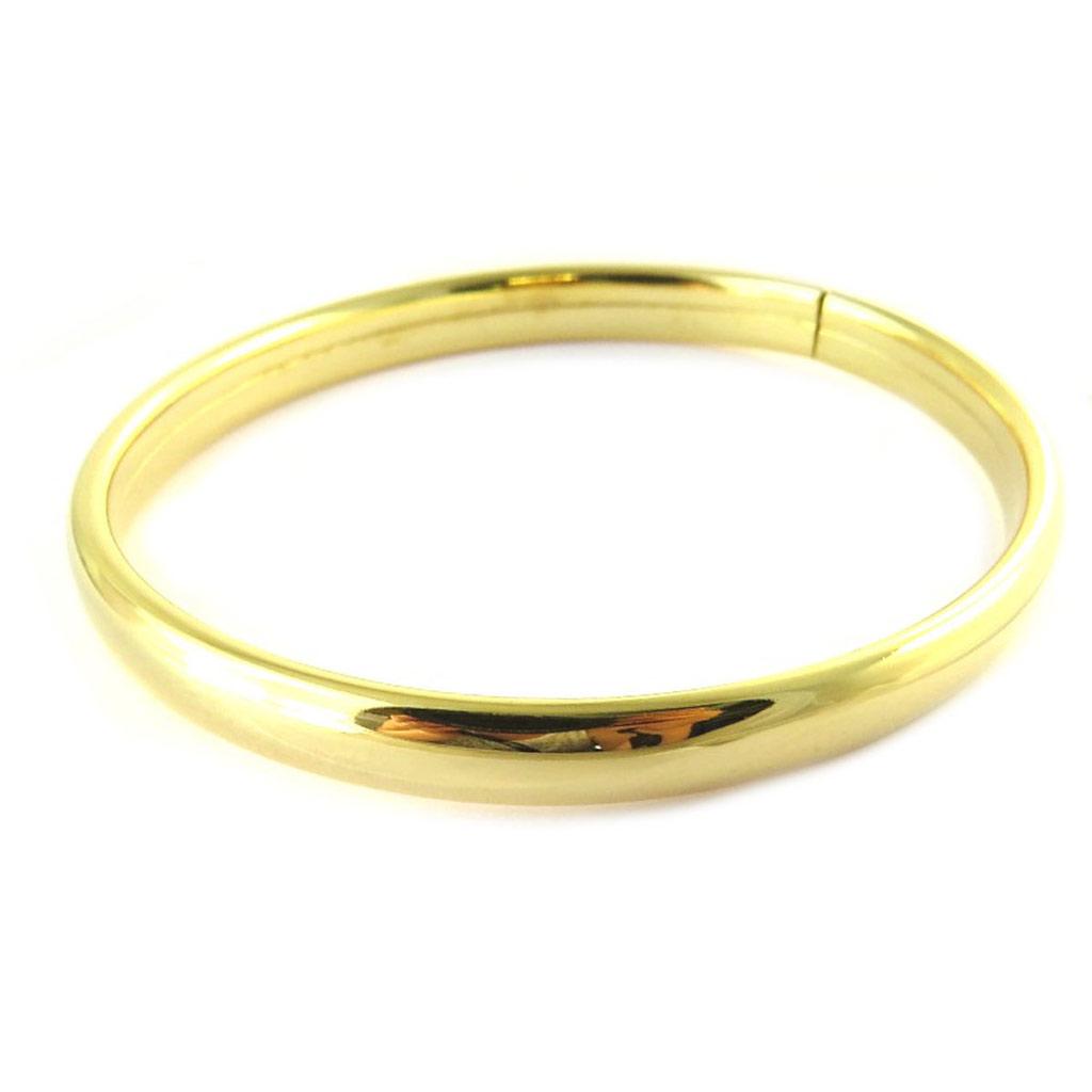 Bracelet Plaqué Or \'Demi-Jonc\' - 60 mm 7 mm - [N7276]