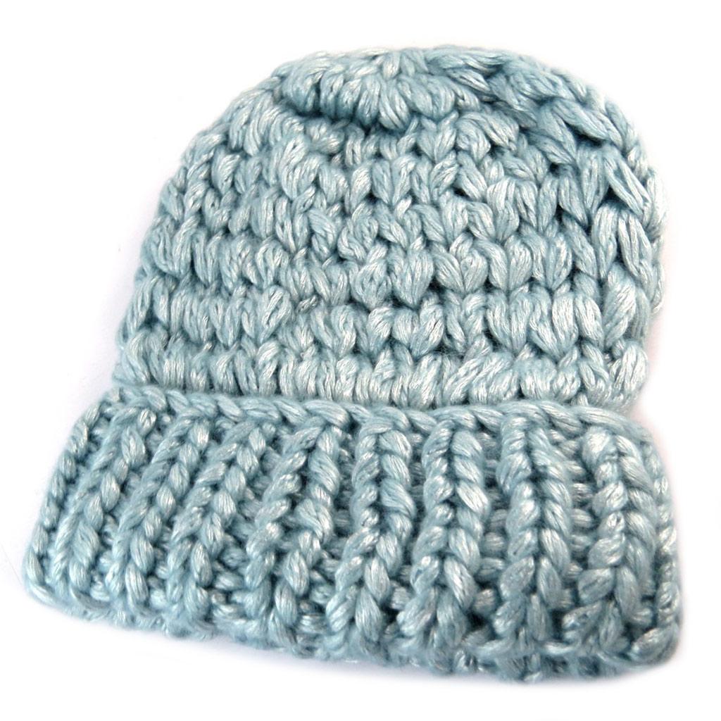 Bonnet maille \'Lollipops\' bleu clair - [N7365]