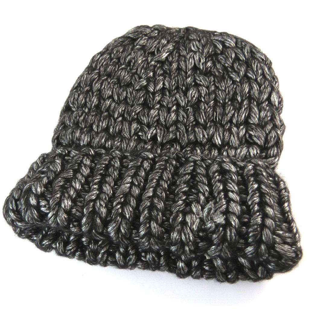 Bonnet maille \'Lollipops\' gris - [N7366]