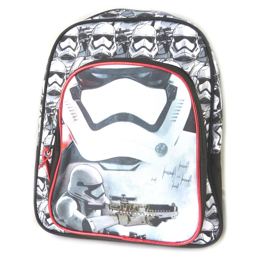 Sac à dos enfant \'Star Wars\' noir blanc - 34x28x15 cm - [N7497]