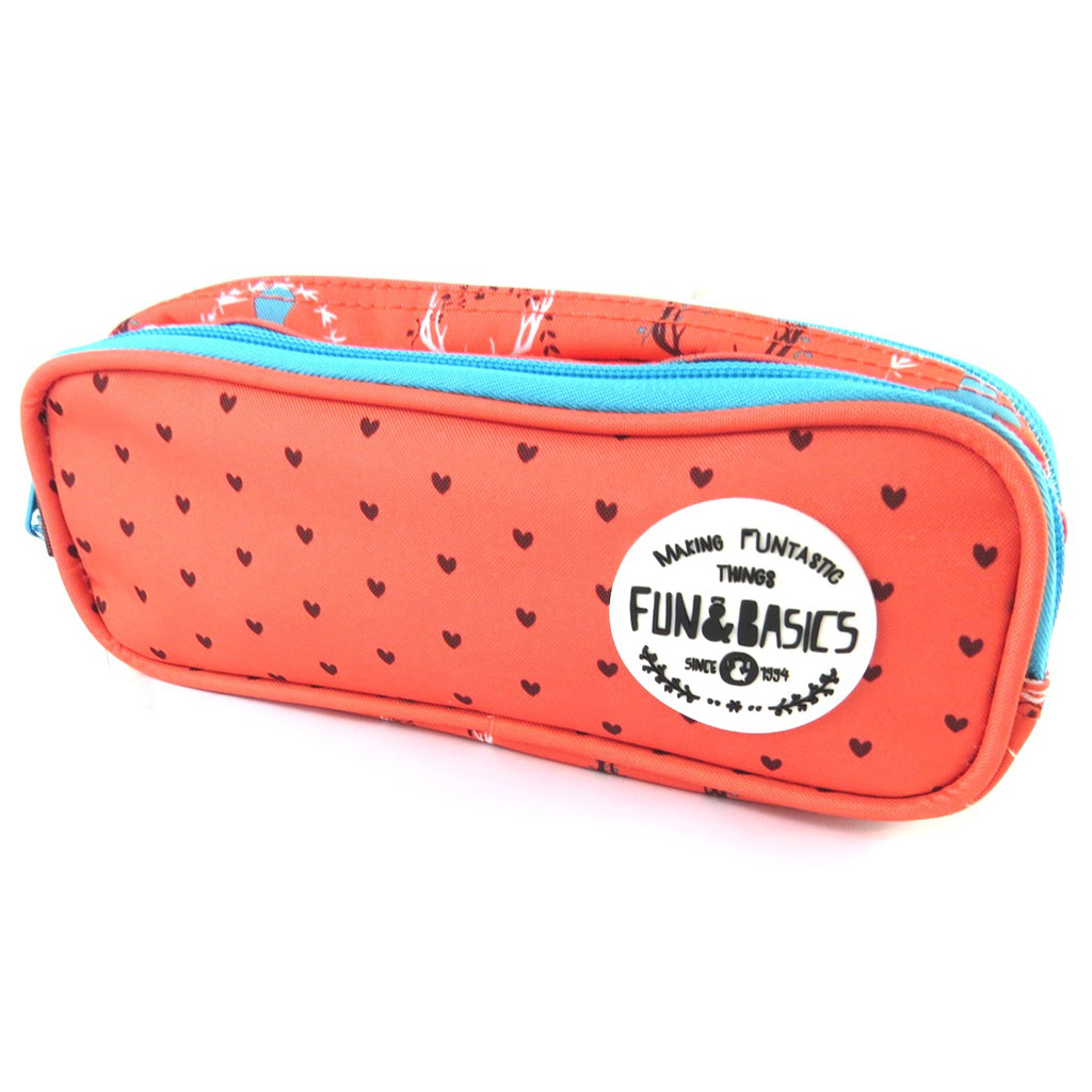 Trousse \'Fun & Basics\' cerf rouge (2 compartiments) - [N7505]